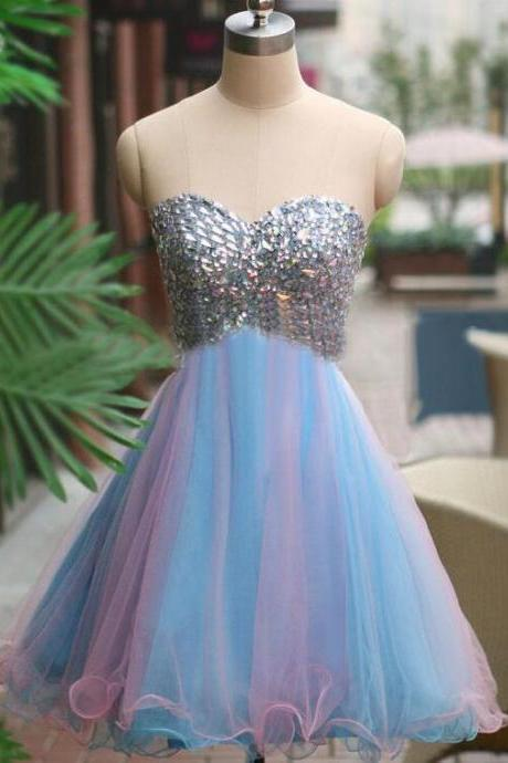 Homecoming Dresses, Homecoming Dresses 2018, Beaded Homecoming Dresses, Sweetheart Homecoming Dresses, Short Colorful Homecoming Dresses, Short Prom Dresses, Short Party Dresses, Prom Dresses, Cocktail Dresses