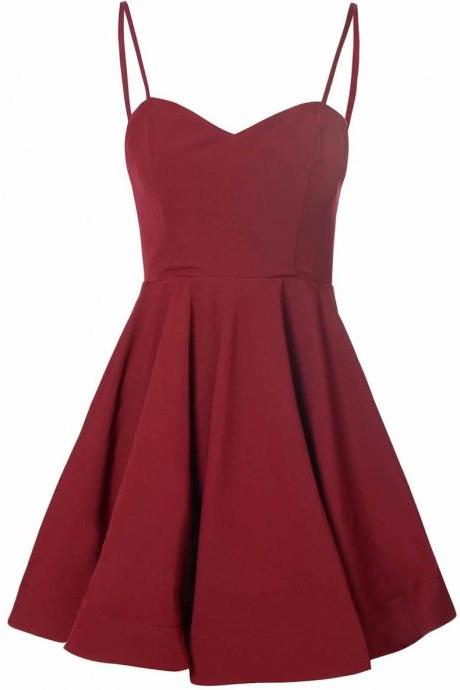 Homecoming Dresses, Homecoming Dresses 2018, Spaghetti Strap Homecoming Dresses, Short Homecoming Dresses, Satin Homecoming Dresses, Short Prom Dresses, Short Party Dresses, Prom Dresses, Cocktail Dress