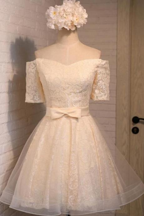 Homecoming Dresses, Homecoming Dresses 2018, Short Sleeve Homecoming Dresses, Applique Homecoming Dresses, Off Shoulder Homecoming Dresses, Short Prom Dresses, Short Party Dresses, Prom Dresses, Cocktail Dress with Belt