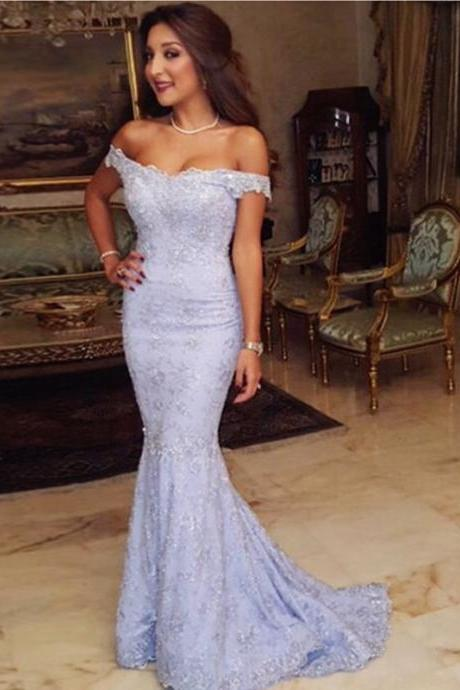 Prom Dresses, Off Shoulder Prom Dresses, Applique Prom Dresses, Mermaid Prom Dresses, Long Prom Dresses, Elegant Party Dresses, Evening Dresses, Party Dresses