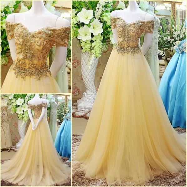 Prom Dresses, Off Shoulder Prom Dresses, Tulle Prom Dresses, A-Line Prom Dresses, Long Prom Gowns, Sleeveless Party Dresses, Long Evening Dresses, Party Dresses